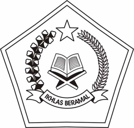 logo depag hitam putih